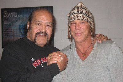 Afa and Mickey Rourke